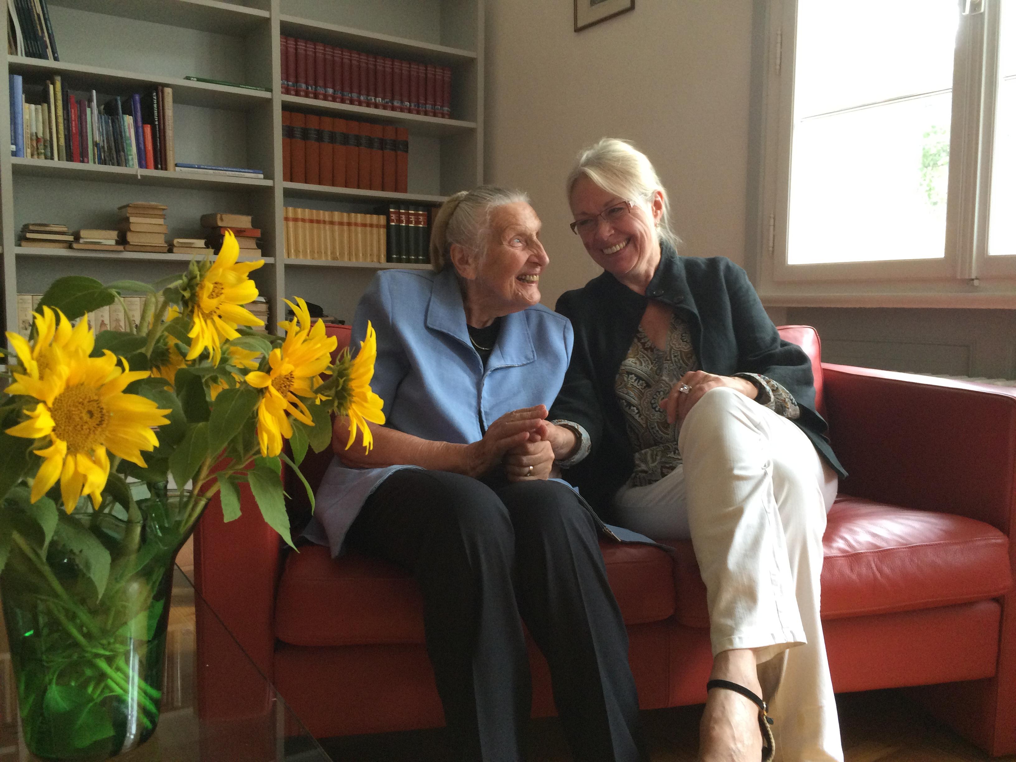 Jubilarin mit Äbtissin, Foto: privat