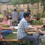Seniorin Frau Wendorff und ihr Besucher aus Peru, Foto: privat