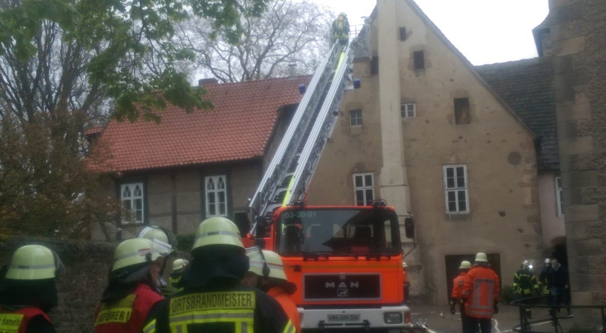 Feuerwehrübung,©W.Menge,Stift Fischbeck