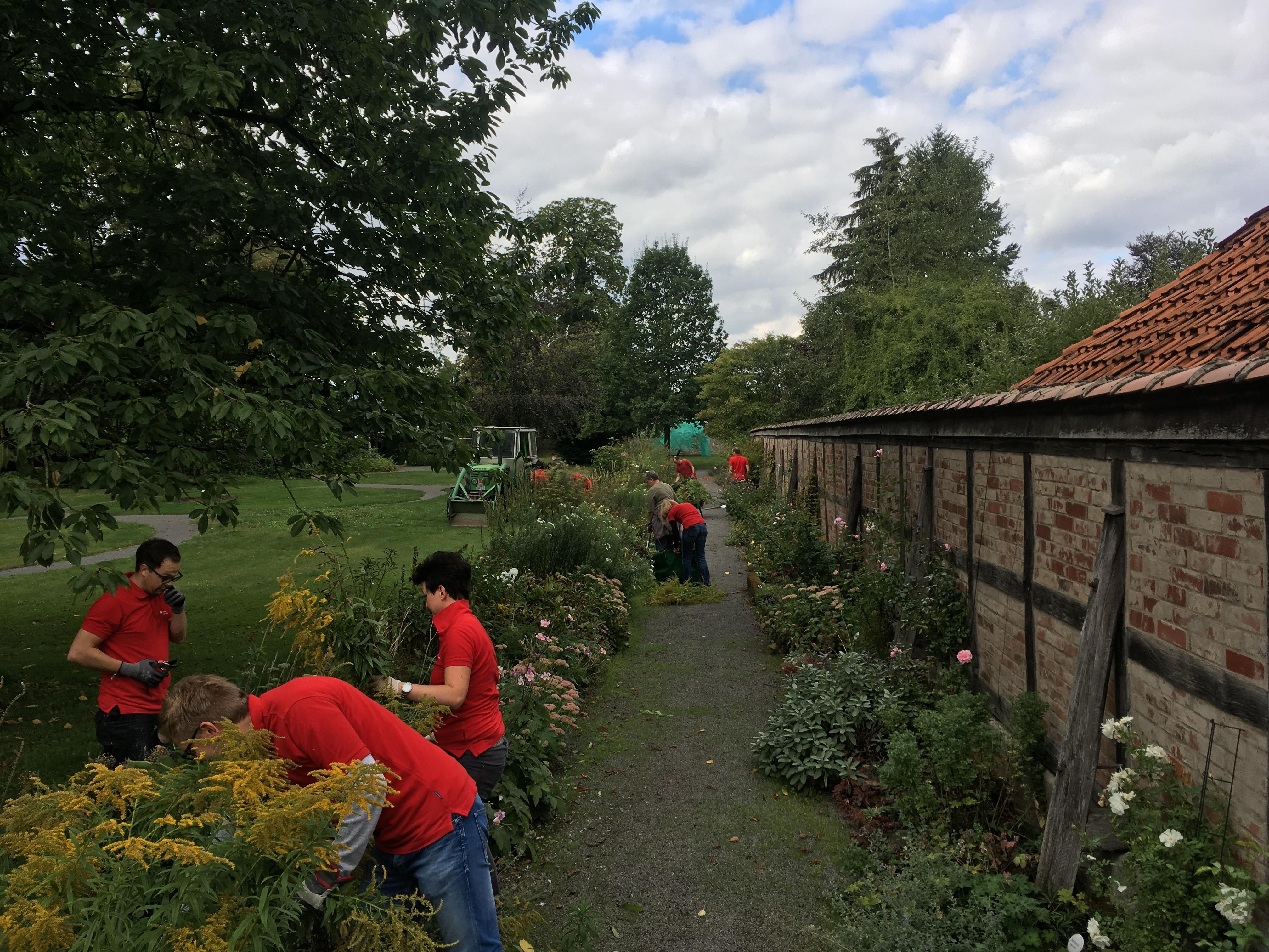 Helfende Hände im Stiftsgarten, Foto: Stift Fischbeck